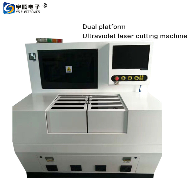 Ultraviolet laser cutting machine double platform PCB laser cutting equipment